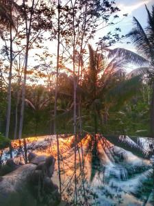 amrita pool at sunset